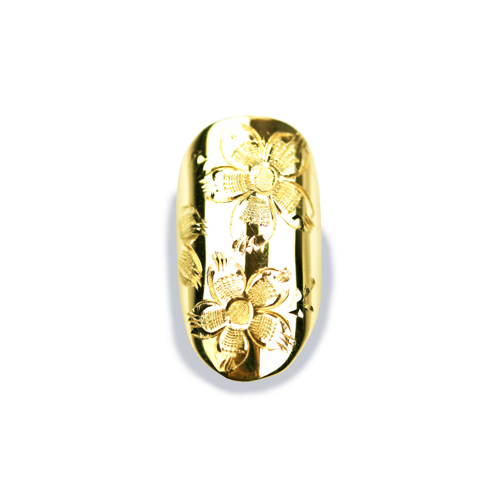 Anemone Round Yellow Gold Nail