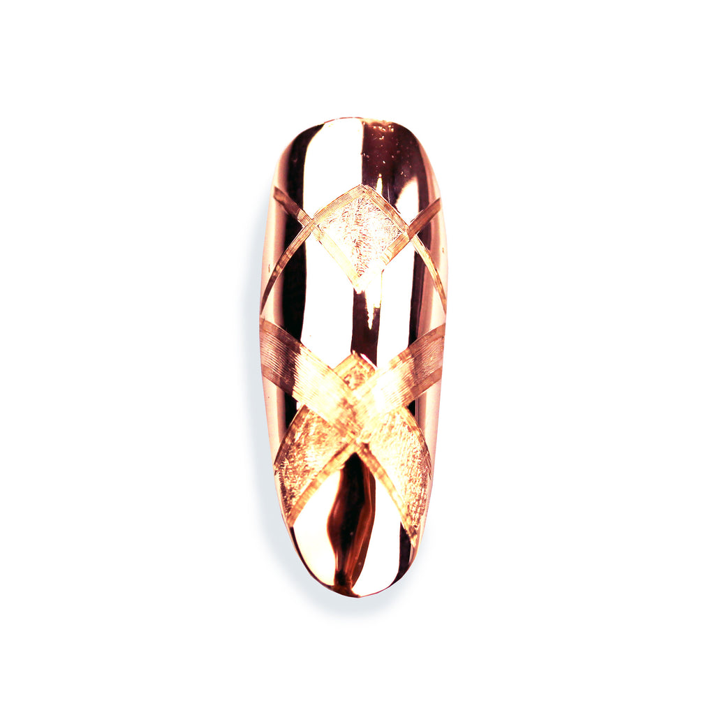 Aurora Long Round Rose Gold Nail