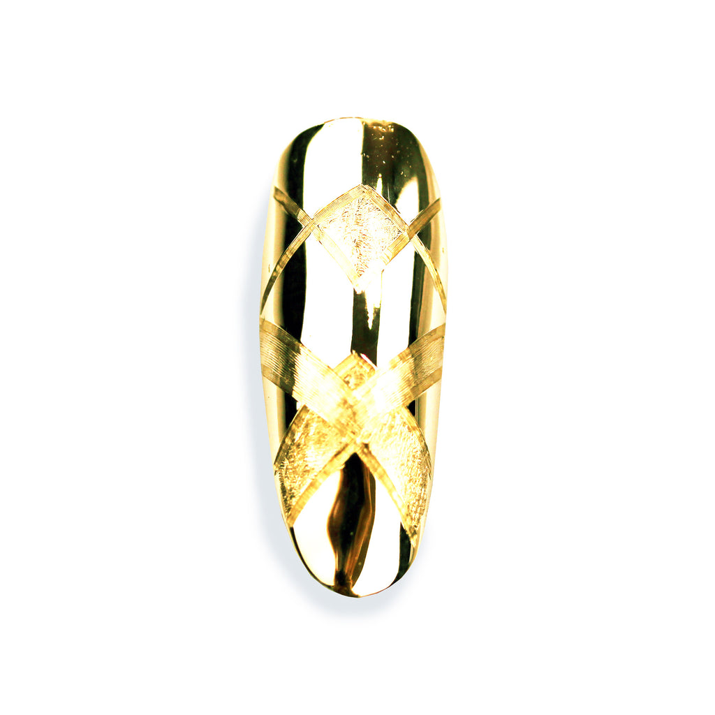 Aurora Long Round Yellow Gold Nail