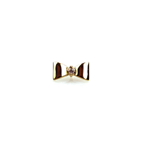 Belle Diamond Yellow Gold Nail Stud