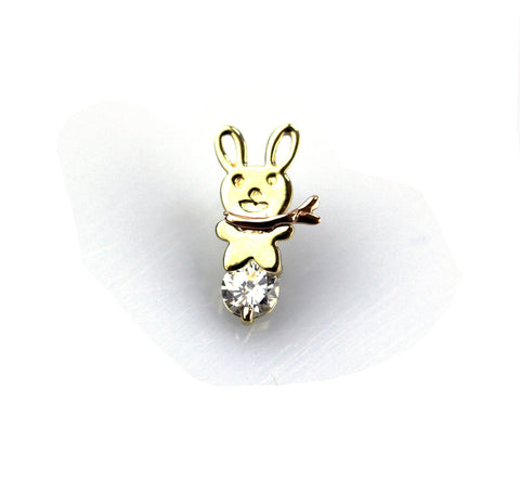Bernice Diamond Yellow Gold Nail Stud