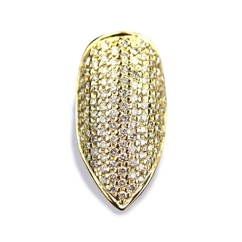 Blakely Pointy Diamond Yellow Gold Nail