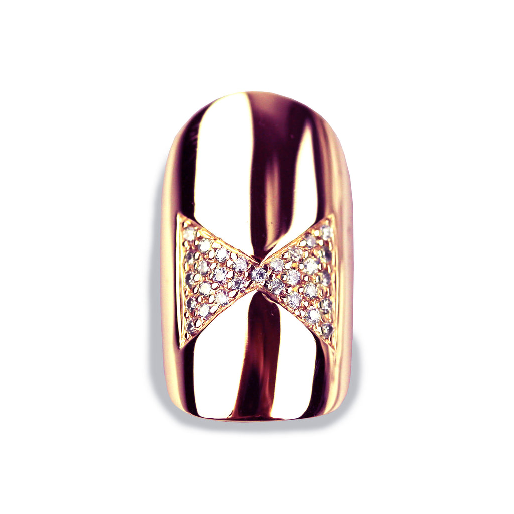 Brooke Square Diamond Rose Gold Nail