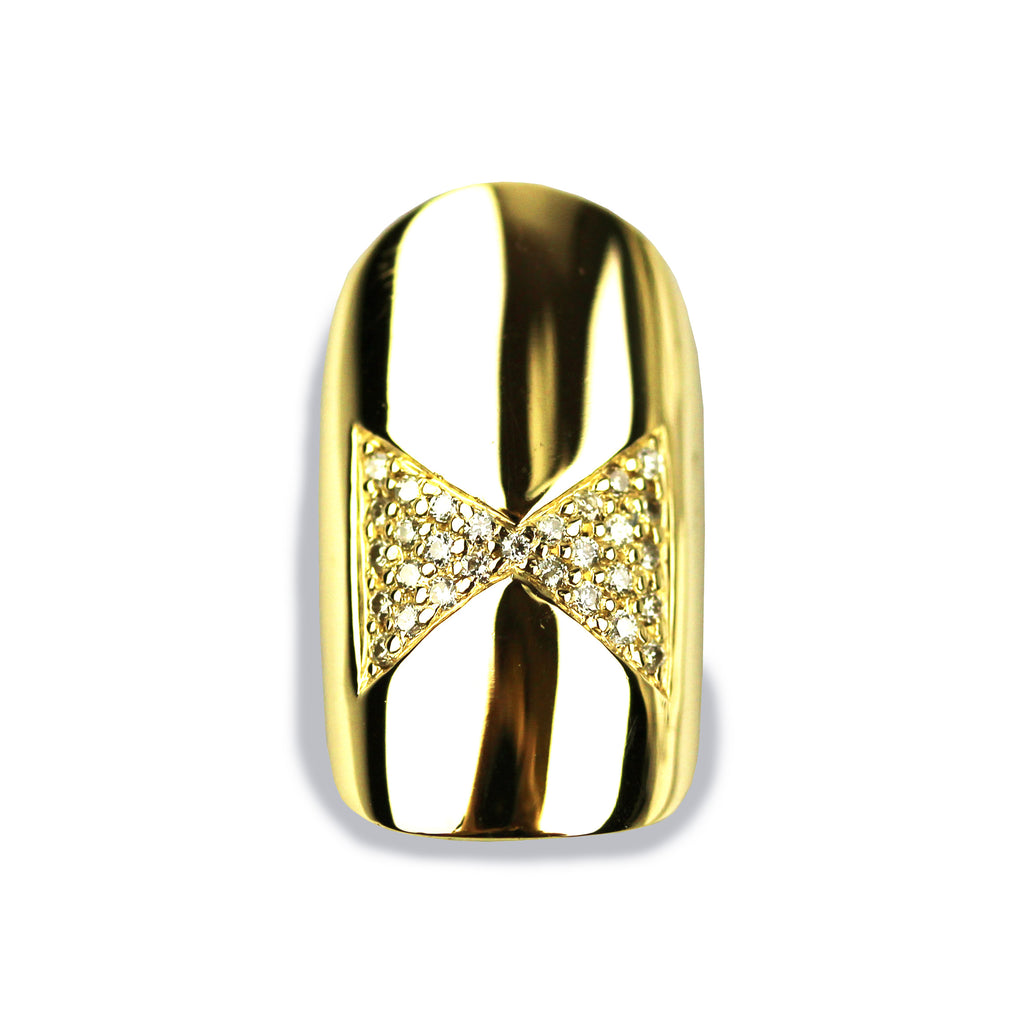Brooke Square Diamond Yellow Gold Nail