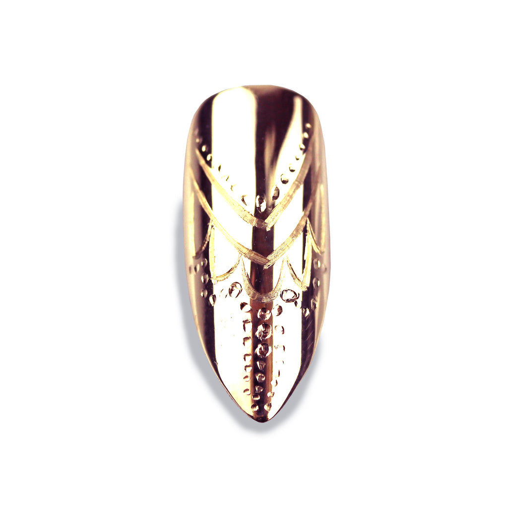 Cassandra Long Pointy Rose Gold Nail