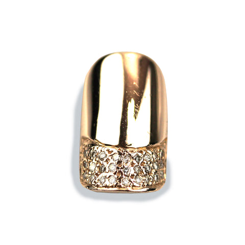 Charlotte Square Diamond Rose Gold Nail