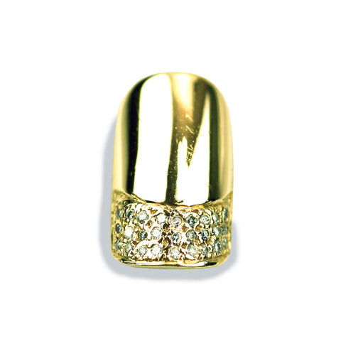 Charlotte Square Diamond Yellow Gold Nail