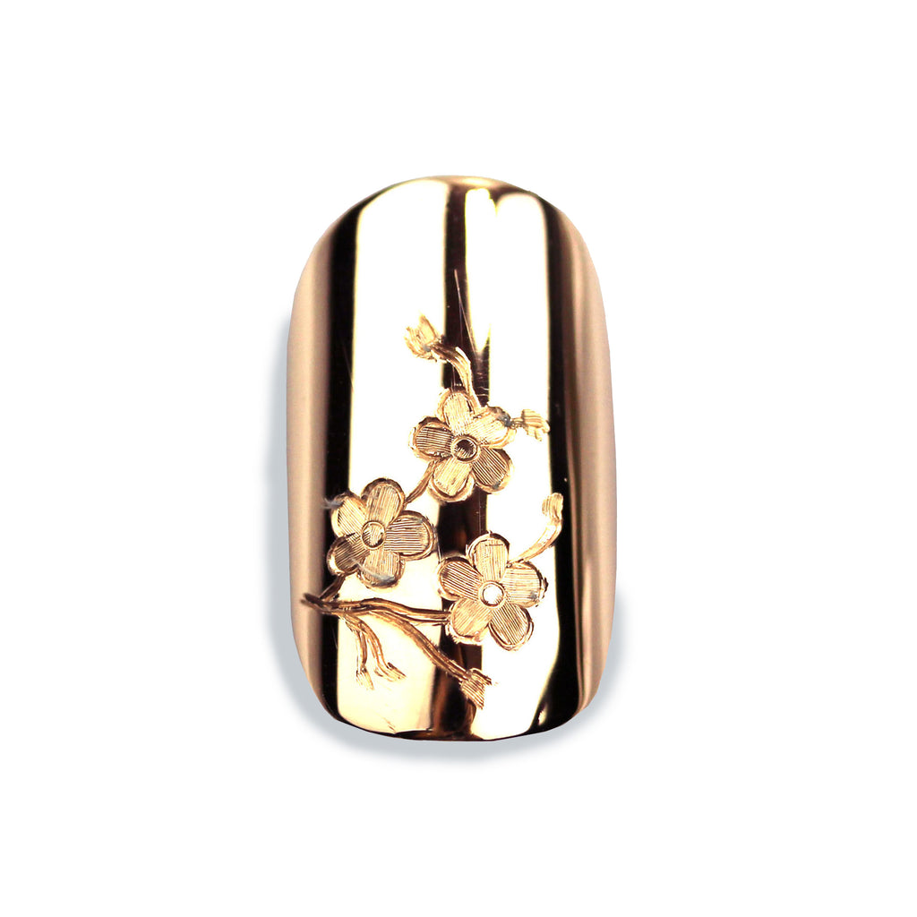 Cherri Sporty Square Rose Gold Nail