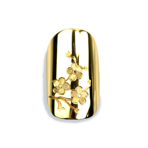 Cherri Sporty Square Yellow Gold Nail