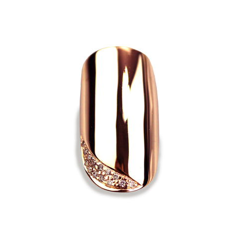 Ciara Round Diamond Rose Gold Nail