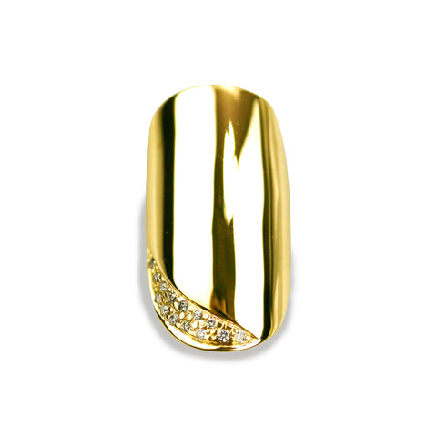 Ciara Round Diamond Yellow Gold Nail
