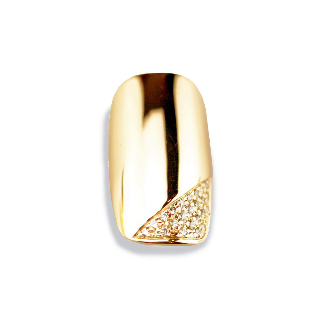 Corina Square Diamond Yellow Gold Nail
