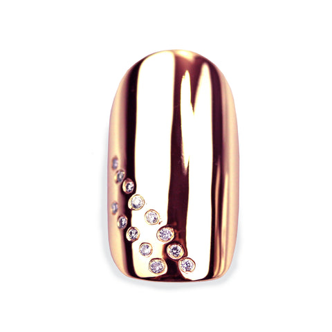Daniela Square Diamond Rose Gold Nail