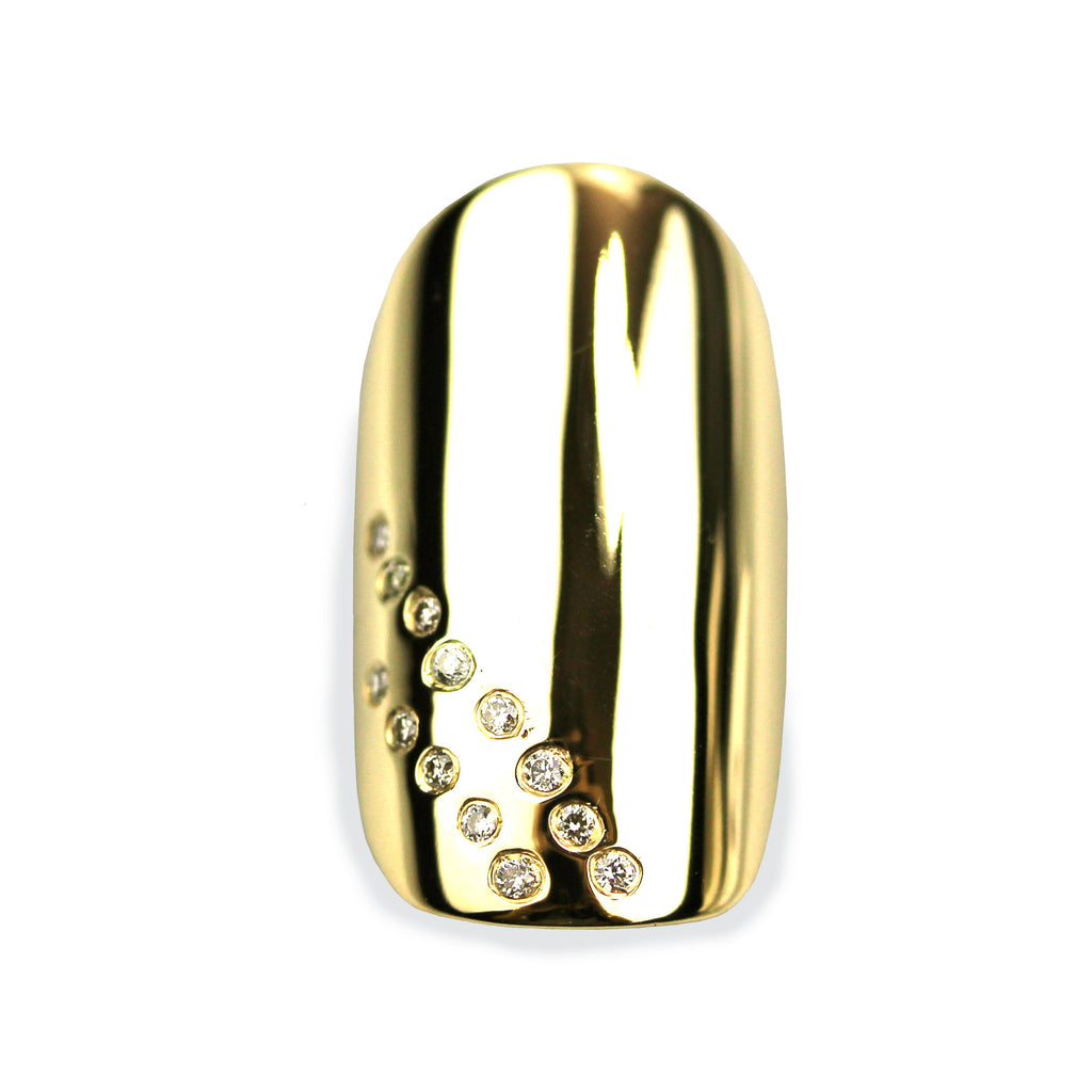 Daniela Square Diamond Yellow Gold Nail