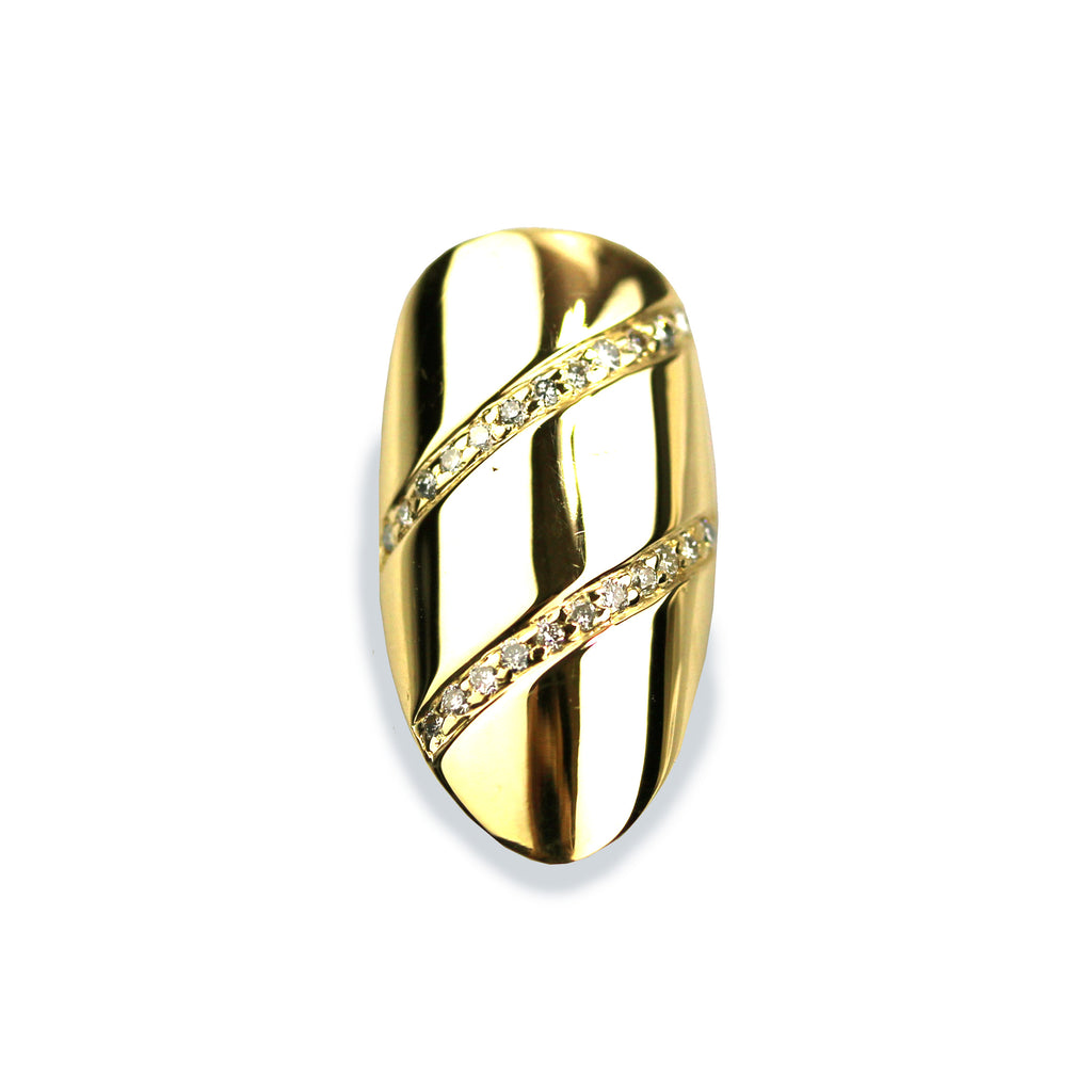 Dillen Pointy Diamond Yellow Gold Nail