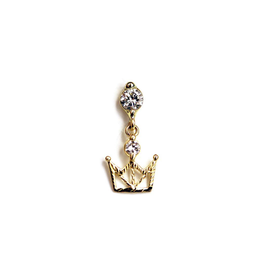 Quinn Diamond Yellow Gold Nail Stud
