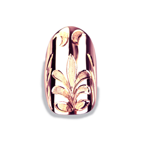 Felice Square Rose Gold Nail