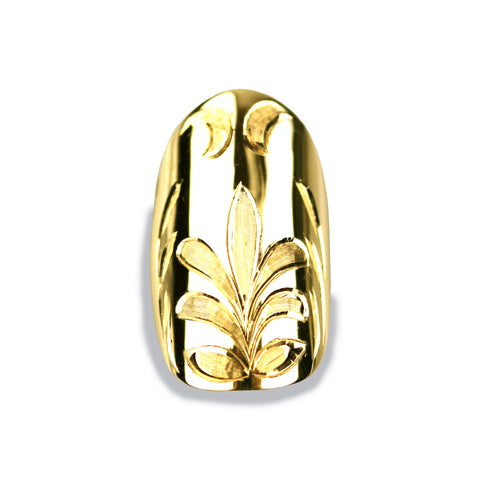 Felice Square Yellow Gold Nail