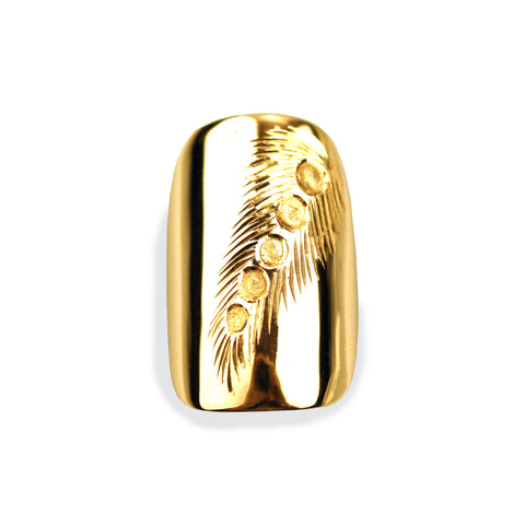 Felicity Square Yellow Gold Nail