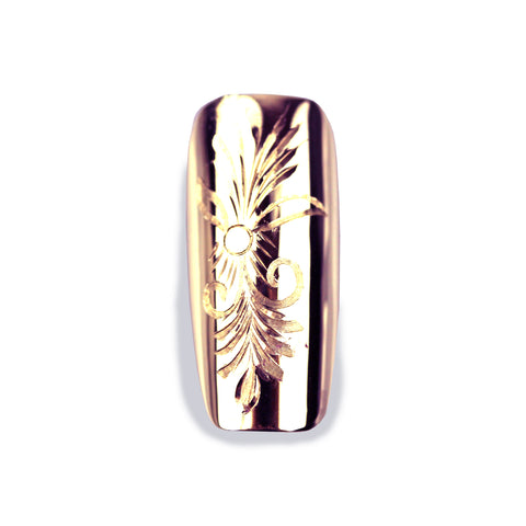 Florence Long Square Rose Gold Nail