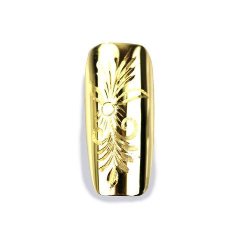 Florence Long Square Yellow Gold Nail