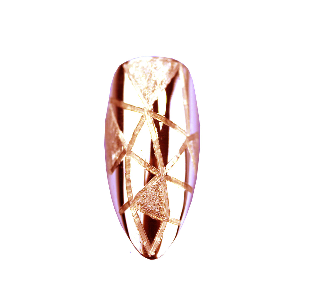 Gia Long Pointy Rose Gold Nail