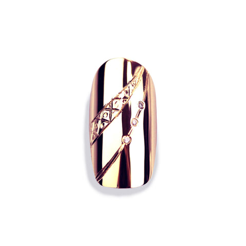 Giselle Diamond Square Rose Gold Nail