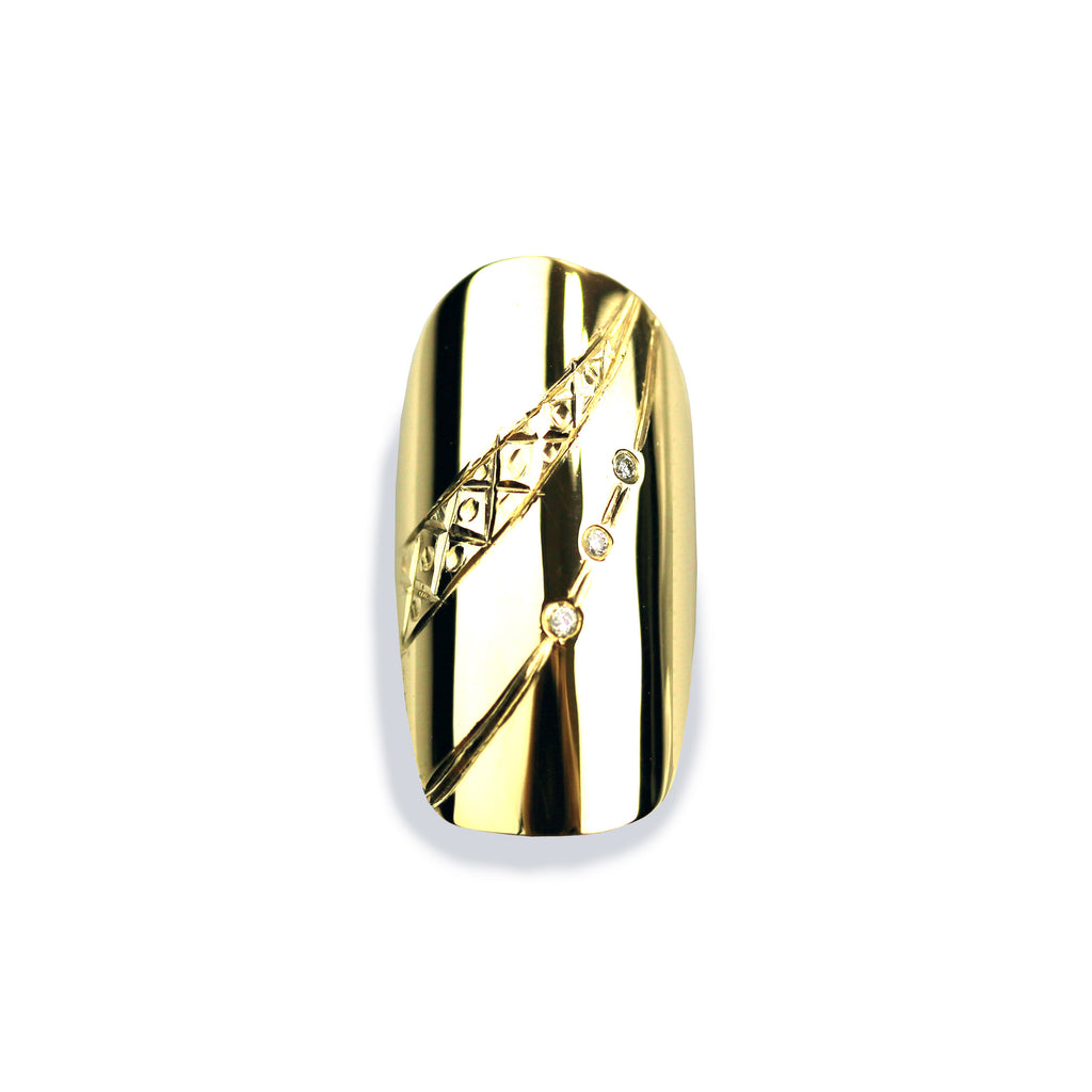 Giselle Diamond Square Yellow Gold Nail