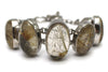 Golden Rutilated Quartz Bracelet in Sterling Silver