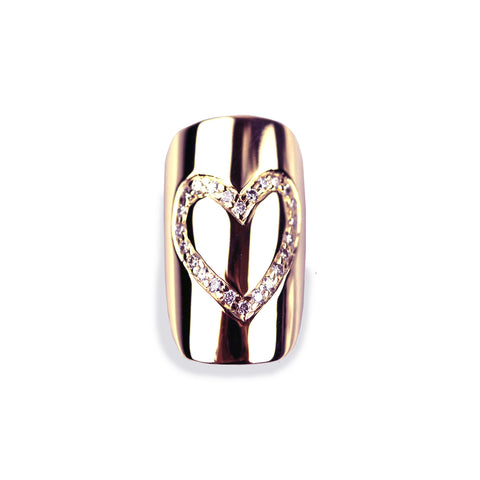 Helena Square Diamond Rose Gold Nail