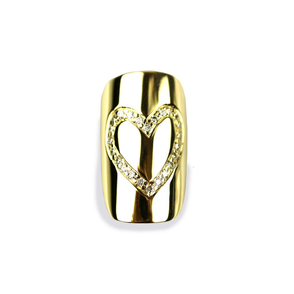 Helena Square Diamond Yellow Gold Nail