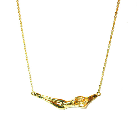 Athena 18K Gold Small Necklace with Diamond
