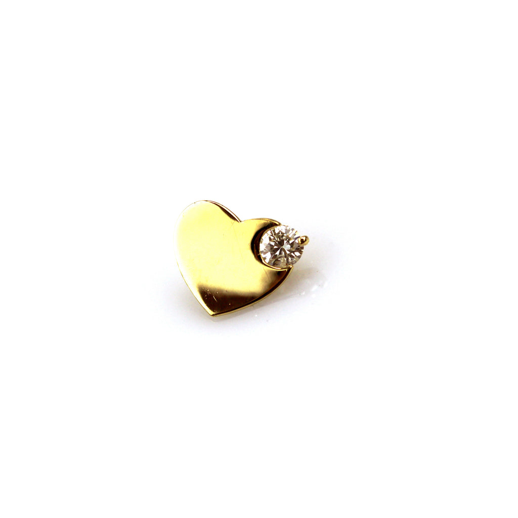 Lola Diamond Yellow Gold Nail Stud