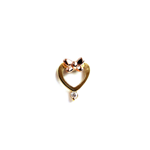 Lulu Diamond Yellow Gold Nail Stud