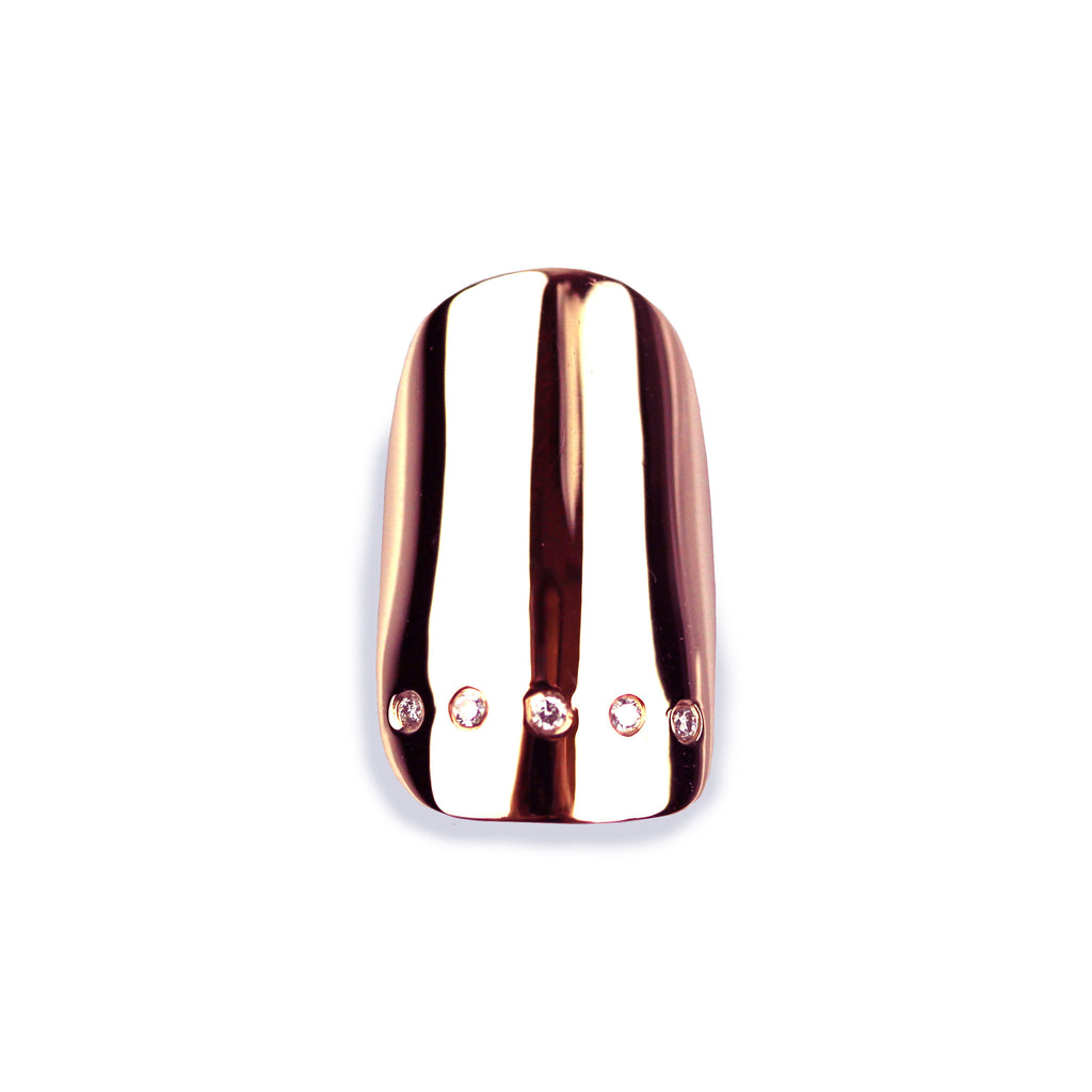 Lynn Square Diamond Rose Gold Nail