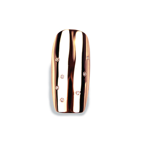 Nala Long Square Diamond Rose Gold Nail