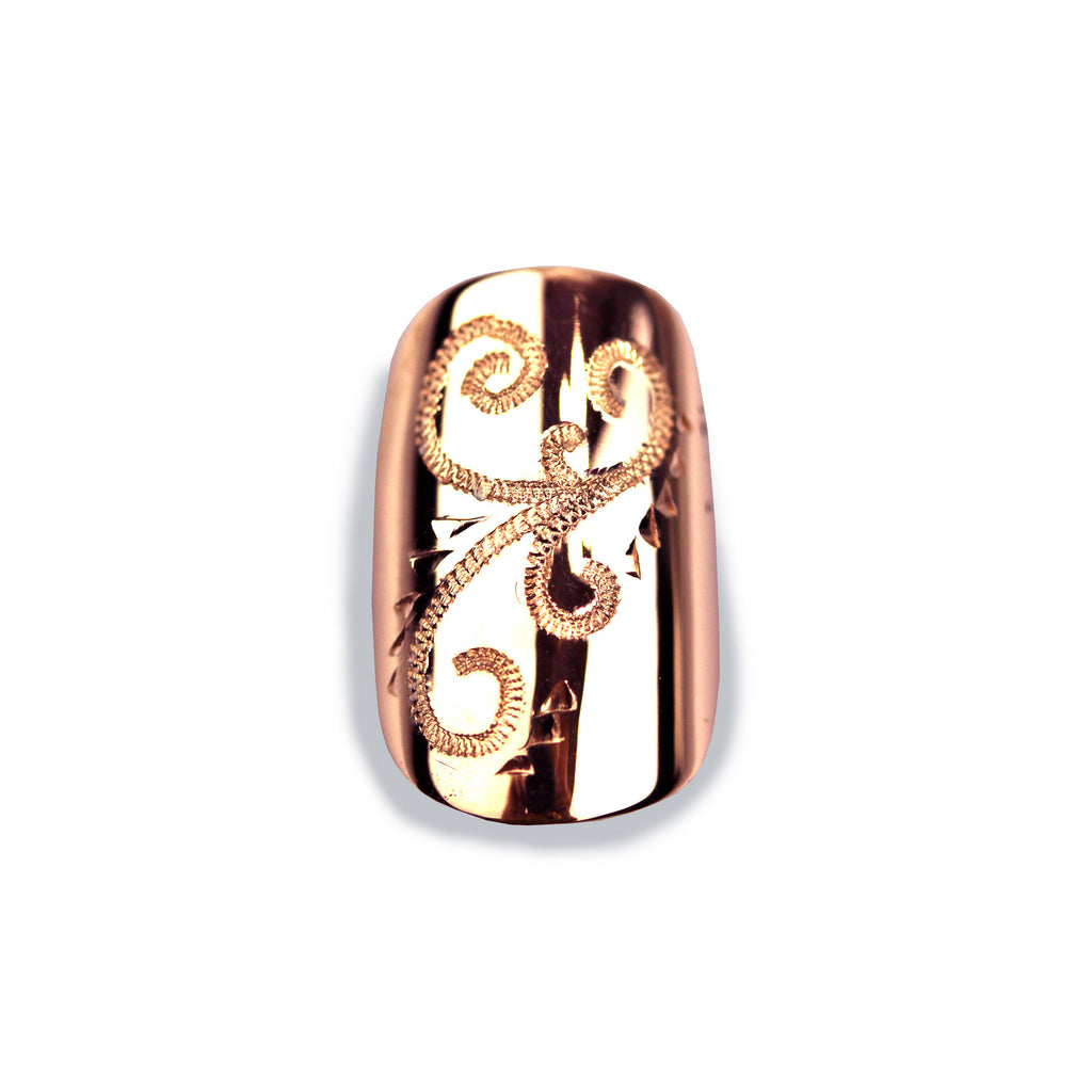 Olivia Sporty Square Rose Gold Nail