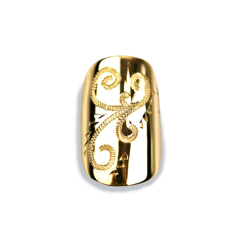 Olivia Sporty Square Yellow Gold Nail