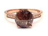 Rose Cut Diamond Engagement Ring in 14KT Rose Gold