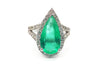 Colombian Emerald and Diamond 18KT White Gold Ring