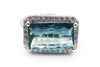 Paraiba Blue Tourmaline and Diamond Ring in 18KT White Gold