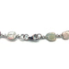 20CT Organic Slice Diamond Necklace 18KT White Gold