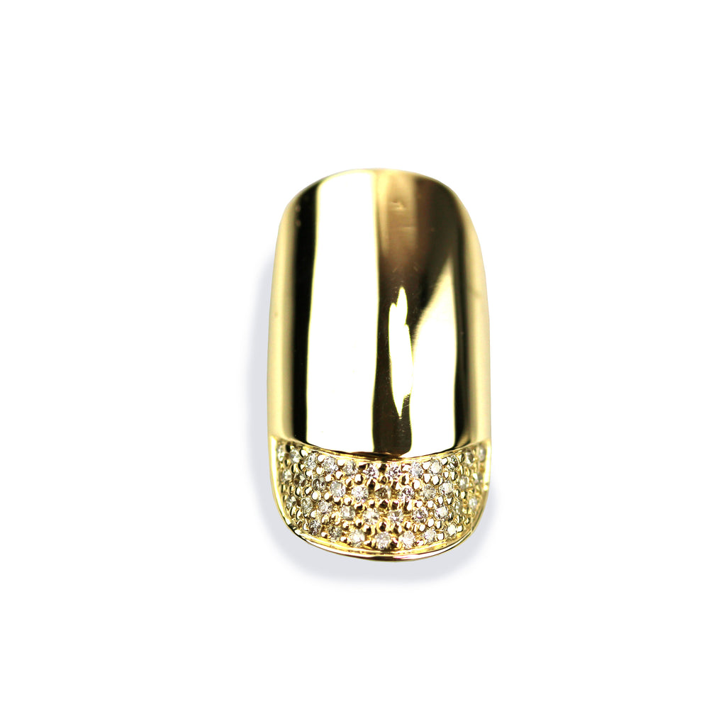 Phoebe Diamond Yellow Round Gold Nail