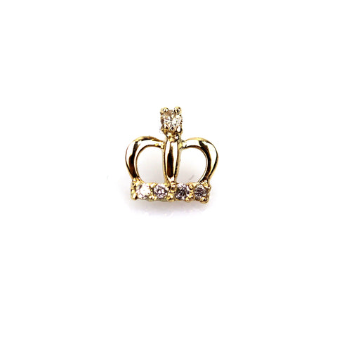 Princess Diamond Yellow Gold Nail Stud