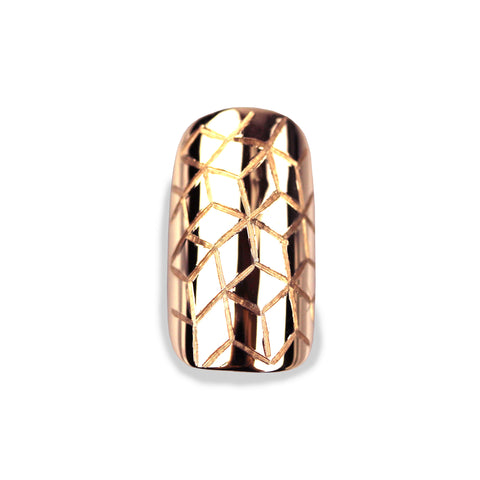 Quinn Square Rose Gold Nail