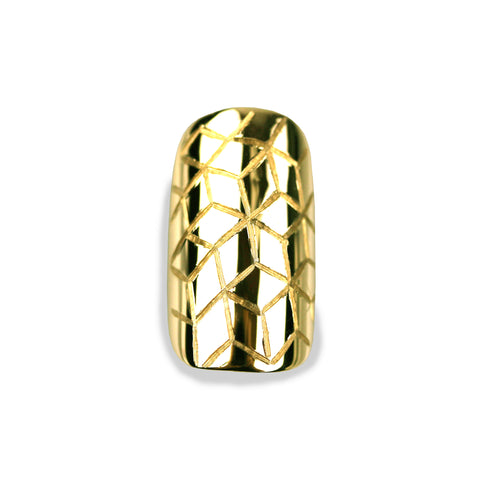 Quinn Square Yellow Gold Nail