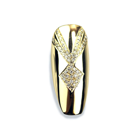 Reia Long Coffin Diamond Yellow Gold Nail