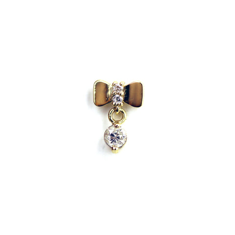 Robin Diamond Yellow Gold Nail Stud
