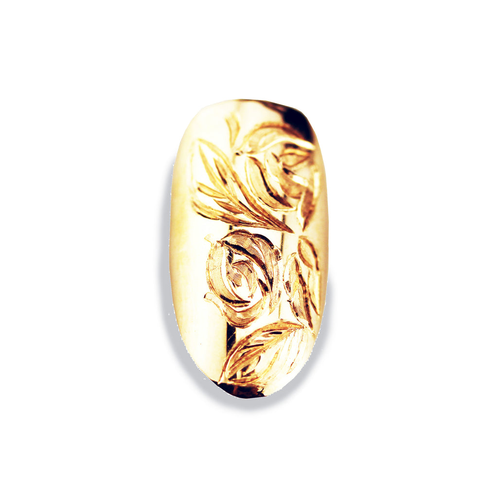 Rosa Round Yellow Gold Nail