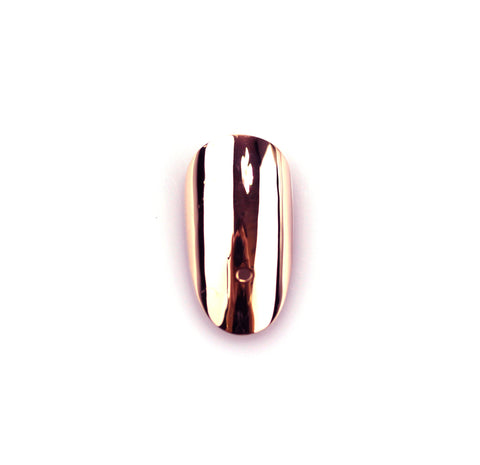 Round Rose Gold Nail with Hole